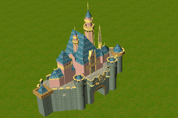 Custom Scenery Depot - Theme Park Games - Sleeping Beauty Castle