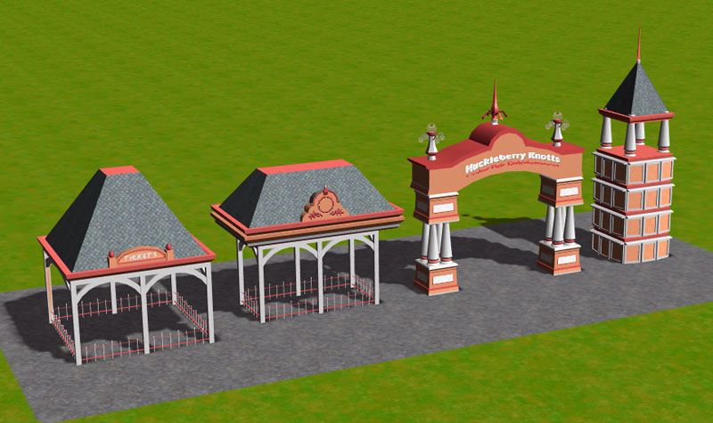 Custom Scenery Depot Theme Park Games Park CleanUp 2