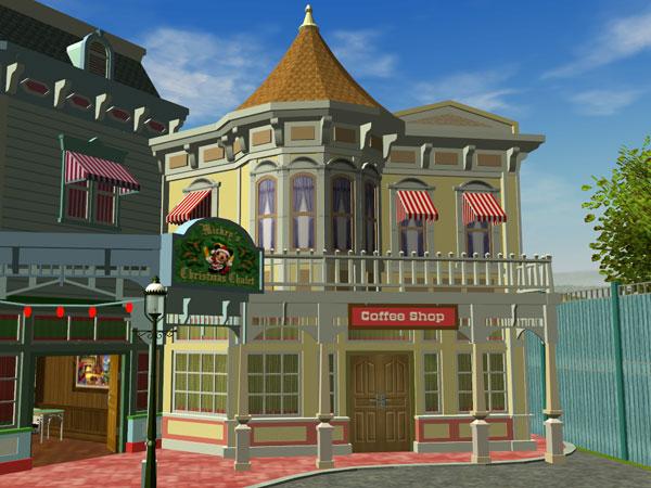 Custom Scenery Depot - Theme Park Games - Main Street Set 7 v1 3